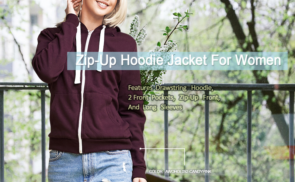 Zip-Up Hoodie Jacket for Women