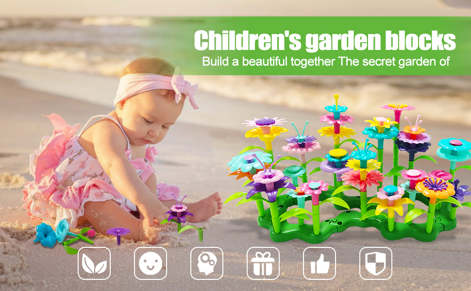 Flower Building Stem Toy for baby kids boys girls children 3 4 5 6 7 8 9 years olds