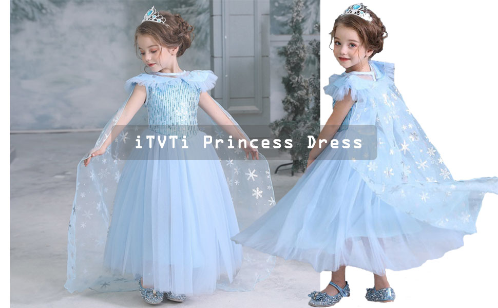 iTVTi Girls Princess Costumes Cosplay Fancy Party Dress up