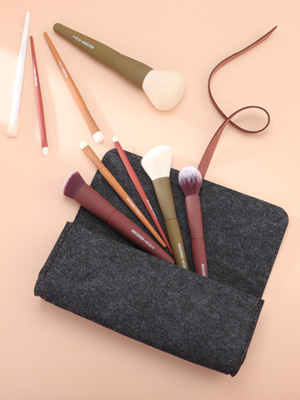 professional makeup brush set  kit eigshow best make up brushes travel makeup brushes with case