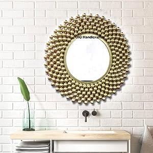 Wall mirror gold bubble mirror room decor