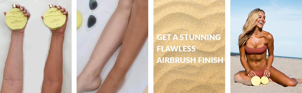 Body Bronzer before & Airbrush finish solution for a winter tan