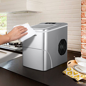 MVPower Máquina para Hacer Hielo, Silenciosa, Capacidad 12 kg ...
