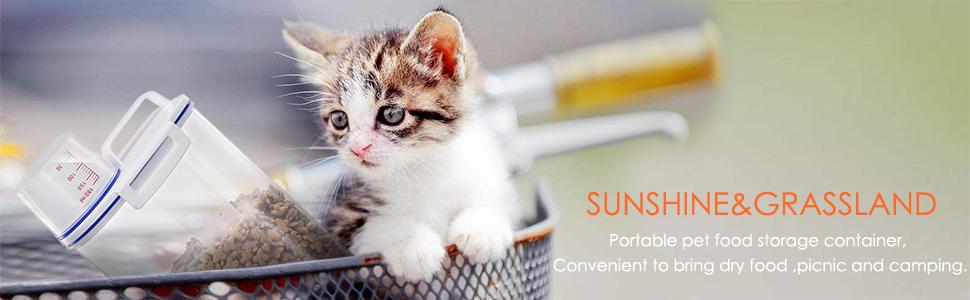 Pet food storage contianer for dog cat food container food storage container