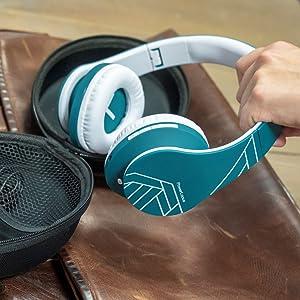 cuffie wireless over ear ideali per le cuffie sportive da jogging pieghevoli sopra la testa