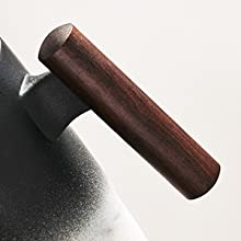 Solid wood handle