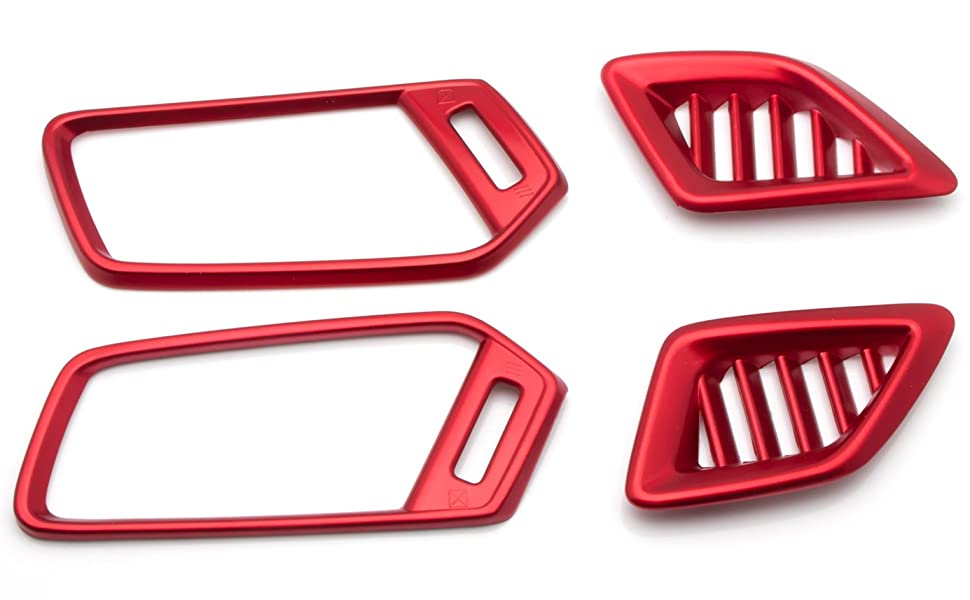 Red Plastic Interior Side Air Vent Outlet Cover Trim For Honda Accord 2018