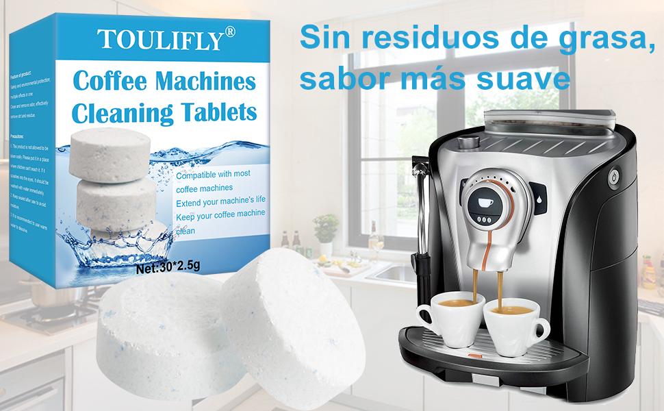 Pastillas para la Limpieza de Cafeteras,Pastillas Limpieza Cafetera,Coffee Machine Cleaning Tablets,Tabletas de Limpieza para Máquinas de Café,para Todas Las Cafeteras Espresso(30x2.5g): Amazon.es: Hogar