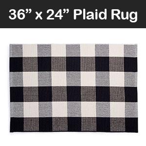 plaid buffalo checker rug