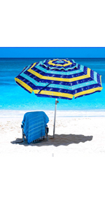 beach umbrella ammsun small travel portable compact uv tilt beach umbrella with sand anchor table