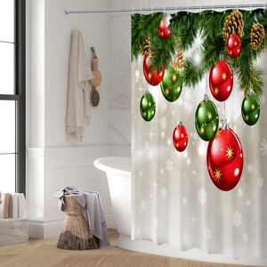 Colorful Christmas shower curtain