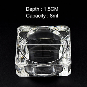 acrylic nail glass cup jars powder nails acrylic liquid container jar dish dispenser holder monomer