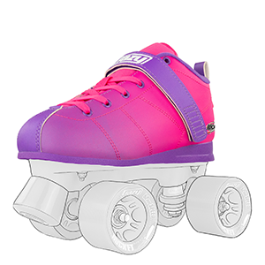 Roller Skate boot for women girls ladies teen purple pink hombre comfortable collar laces lining