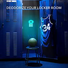 gym, locker, fitness, sport, sports, health, uv, uvc, light, lamp, deodorant, jersey, basketball