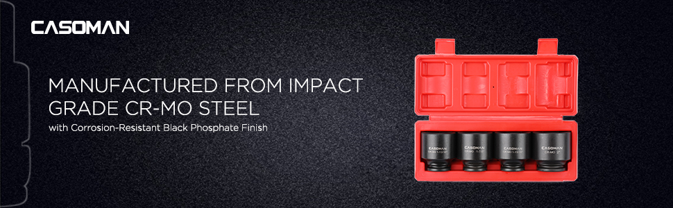 Manufactured from Impact Grade CR-MO Steel with  Corrosion-Resistant Black Phosphate Finish