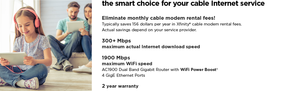 The smart choice for your cable Internet service.