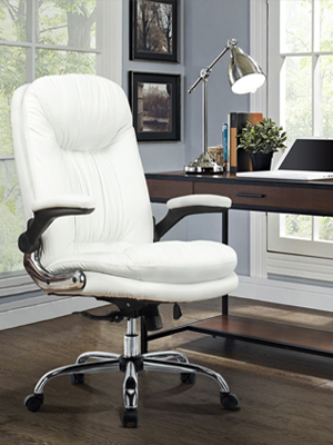 Ergonomic Office Chair Adjustable Tilt Angle and Flip-up Arms