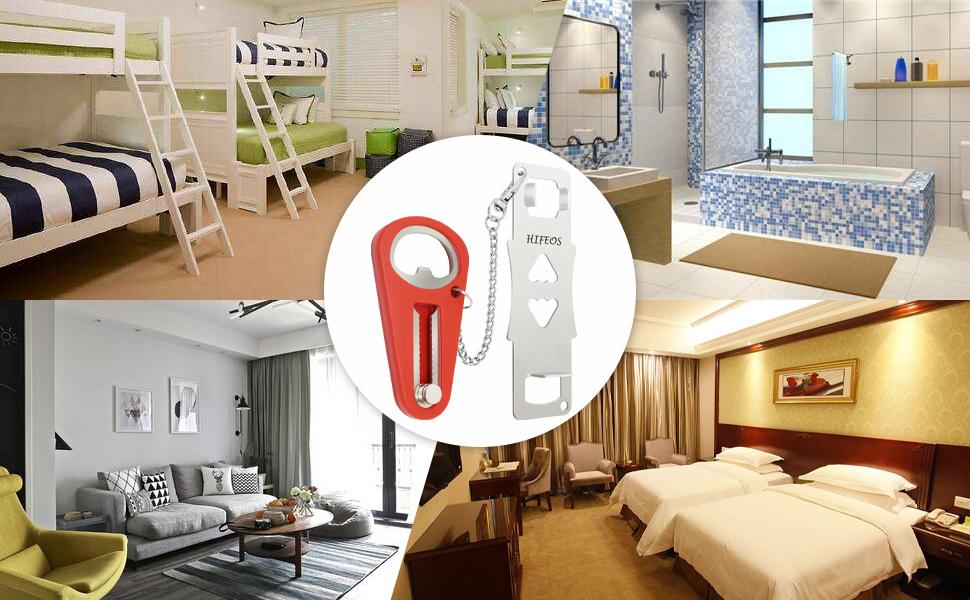 the portable door lock can be used in dorm, bathroom, bedroom, hotel,