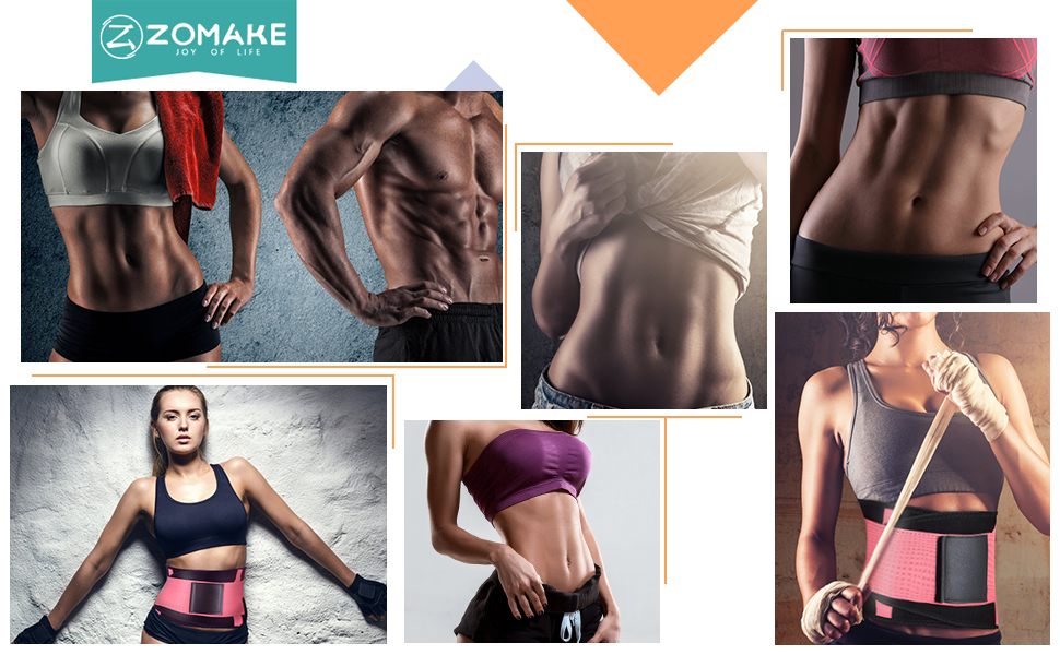 Waist Trainer Sauna Belt Belly Trimmer for Workout ZOMAKE Sweat Belt for Women Weight Loss