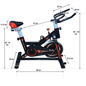 Exercise fitness Spinning Indoor Cycling , Smooth & Quiet Stationary Bike,for HomeGymFullyAdjustable