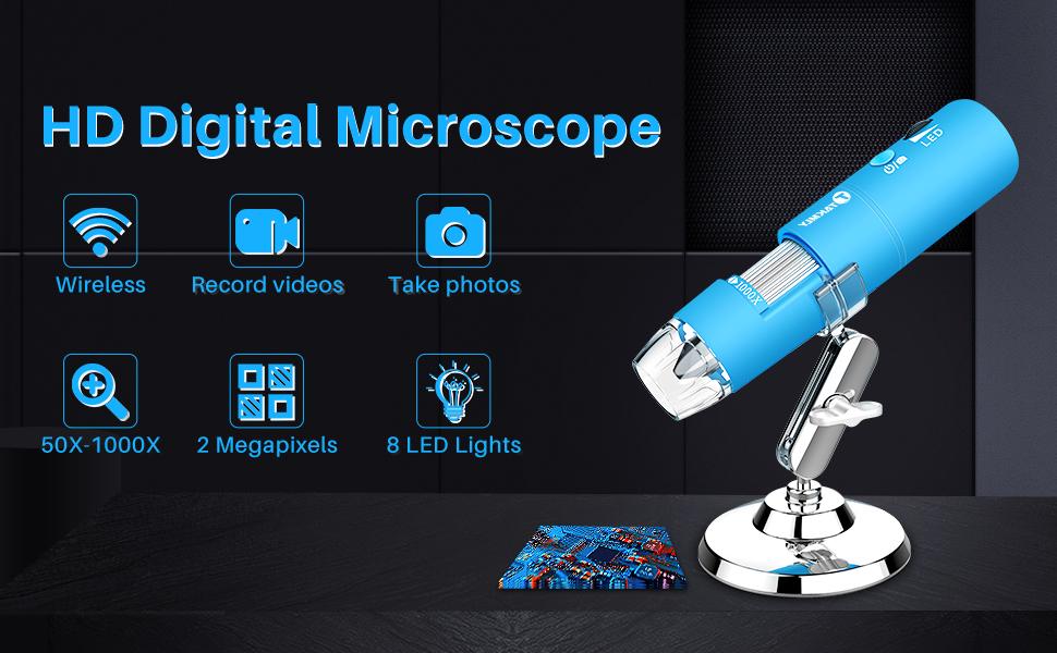 blue digital microscope inspection camera handled mini potable
