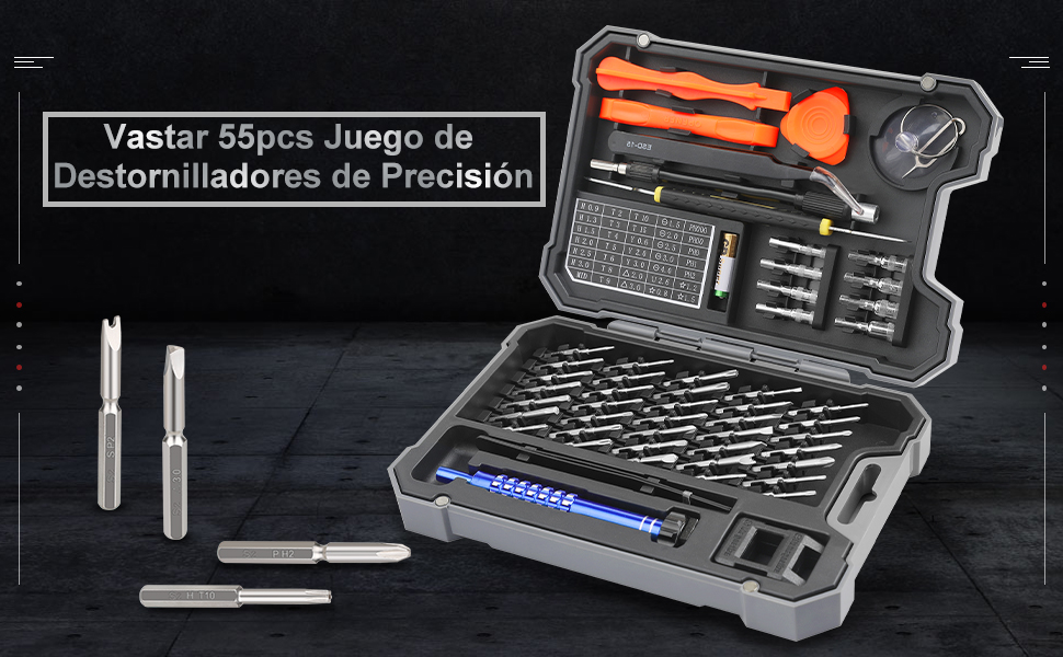 Vastar 55Psc Juego de Destornilladores de Precisión ...