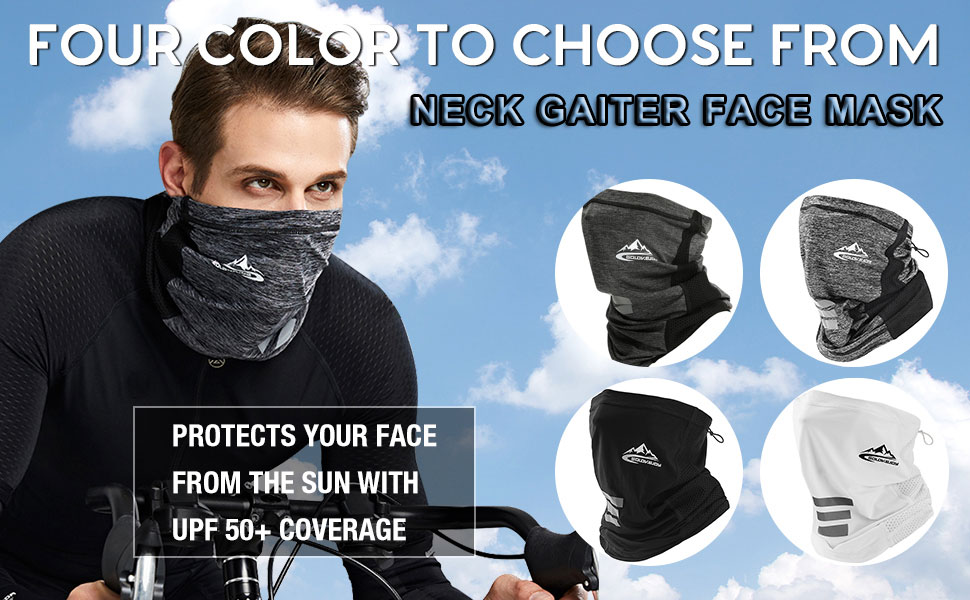 Neck Gaiter Face Cover Mask Balaclava Bandana Headwear Face Scarf for Men Women
