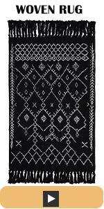 tassels woven cotton rug entryway bathroom area rugs machine rug bedroom kitchen grey room kitchen