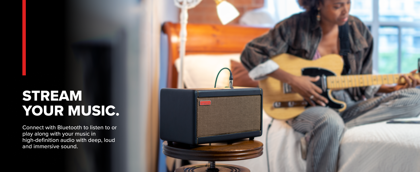 Stream Your Music Connect with Bluetooth to listen to or play your music in high-definition audio