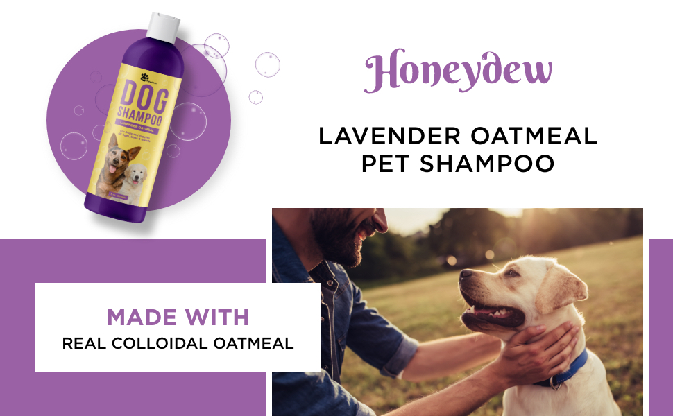 Lavender oatmeal pet shampoo