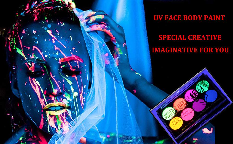 uv body paint kit