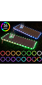 Cornhole Board Lights