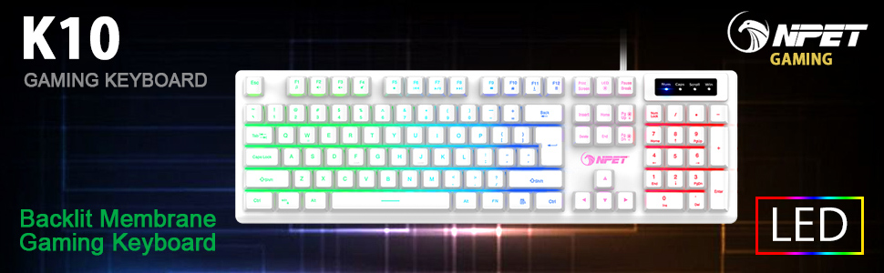 Mechanical Feeling Gaming Keyboard USB Wired Keyboard, Quiet Spill-Resistant Keyboard