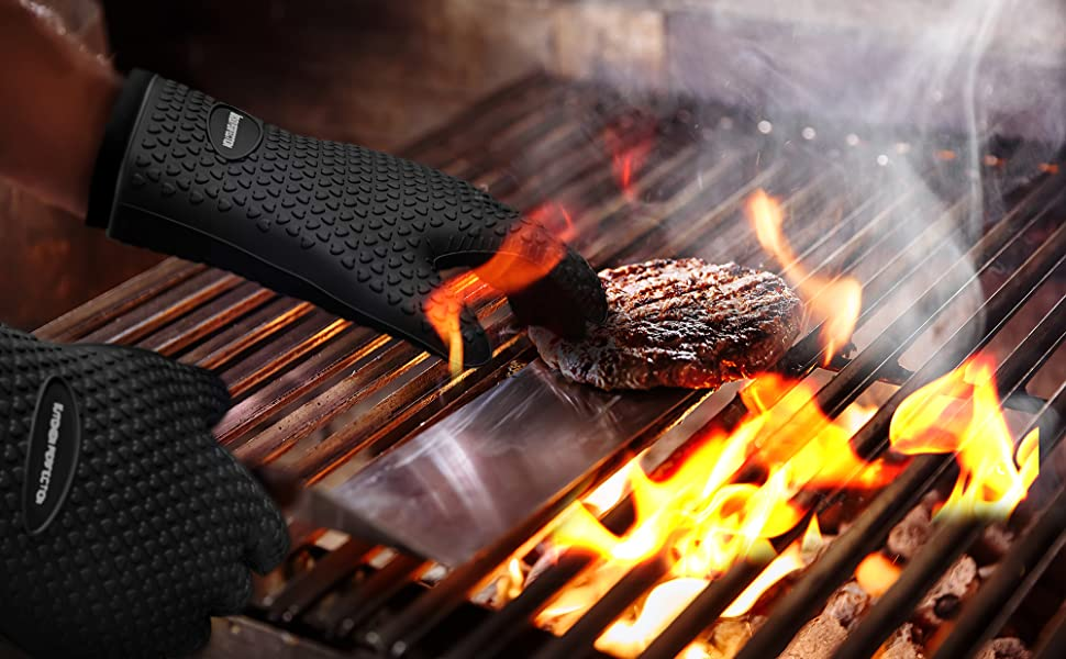 heat resistant grill gloves frilling gloves grill mitts bbq mitts deep frying gloves turkey smoking