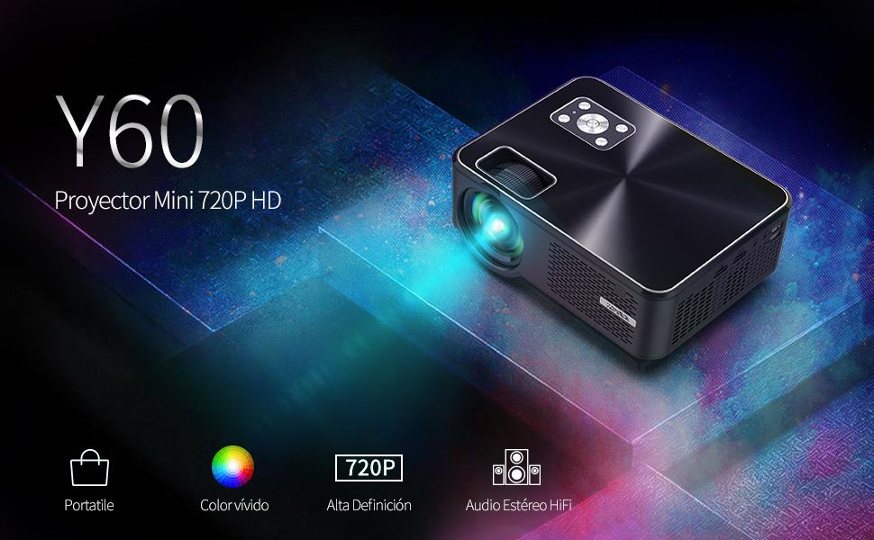 Proyector YABER Mini Portátil Proyector Cine en Casa 5000 Lúmenes ...