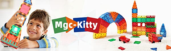 High-Quality and Safe Magnetic Building Block Toys, Let Children Enjoy The Happy Time of Mgc-Kitty!