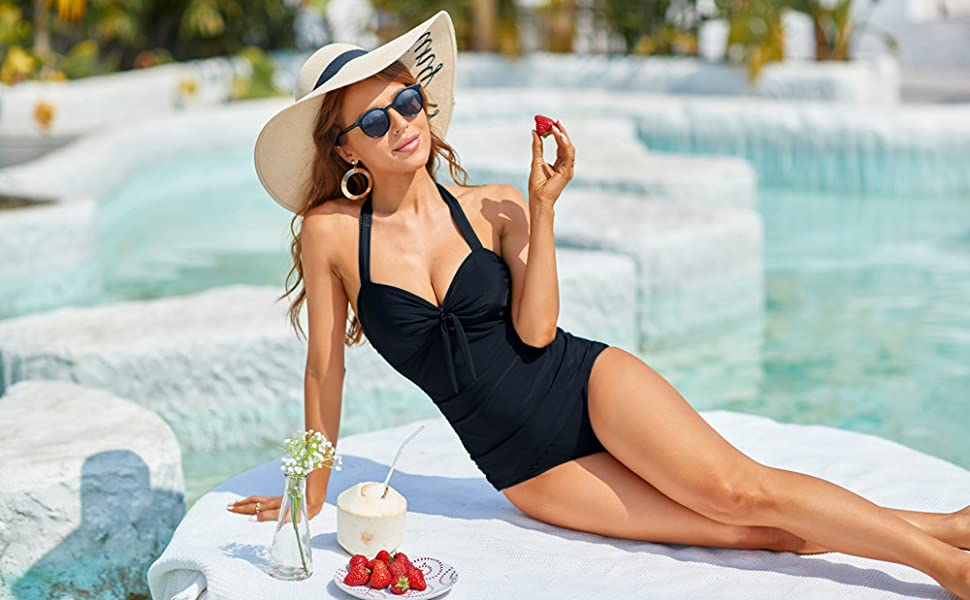 Tie Knot Tummy Control Swimsuits
