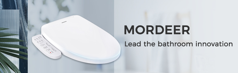 Remote Control MORDEER C650 Elongated Toilet Bidet Seat Smart ...