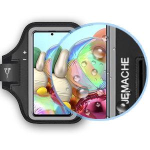 Poche pour Cl/és Brassard de Sport pour Galaxy A21s J/&D Compatible pour Samsung Galaxy A31//Galaxy A21s//Galaxy A21 Brassard Entr/ée Parfaite pour l/écouteur Pendant Le Jogging et lentra/înement