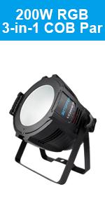 BETOPPER COB PAR Light 200W Stage Light DMX RGB Wash Light DJ Lighting for Mobile DJ,Church,Wedding