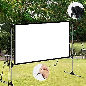 Projector screen 100''