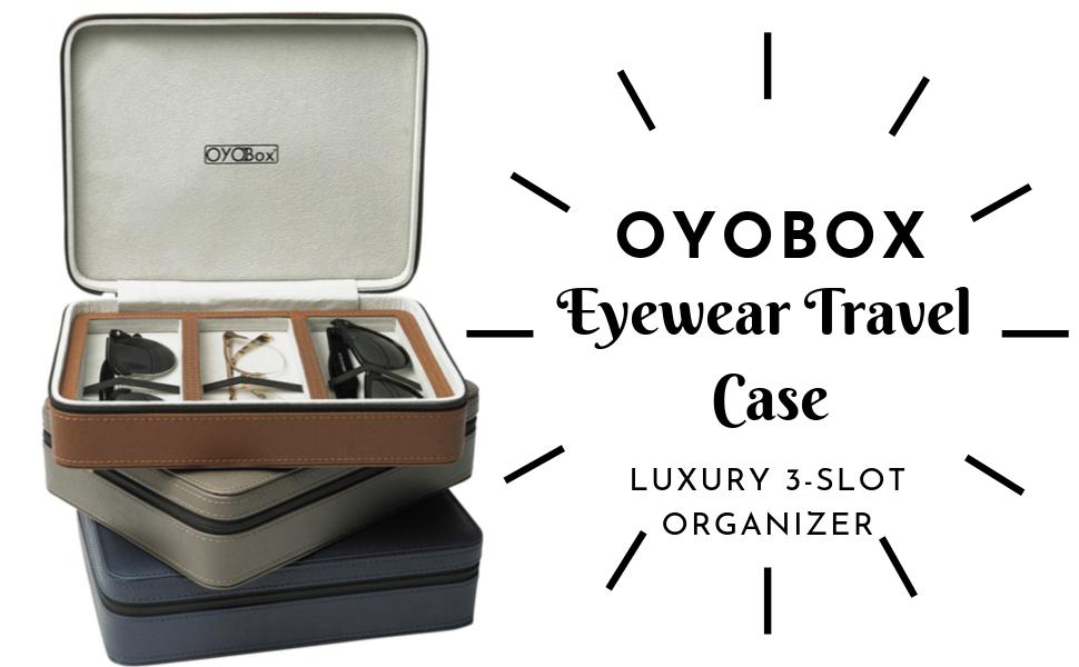Travel case eyewear organizer