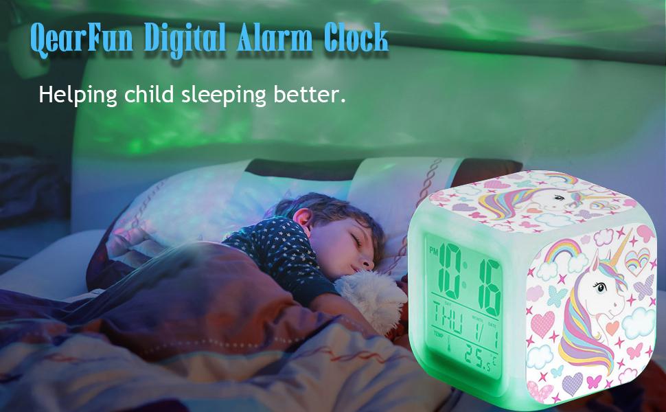 digital clock unicorn