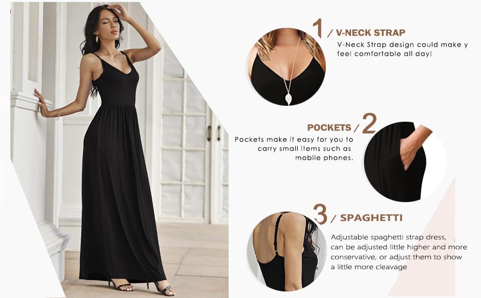 plain summer strap maxi dress