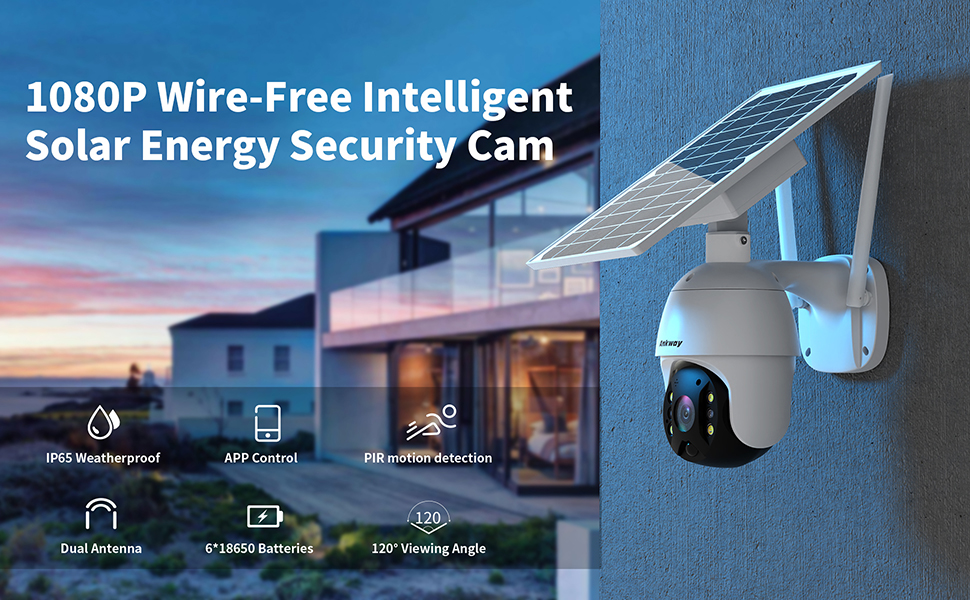 1080P Wire-Free Intelligent Solar Energy Security Cam