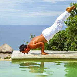 Men's linen yoga pants
