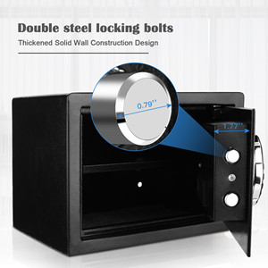office safe  BATHWA Digital Electronic Safe Security Box, Steel Deposit Safe for Home & Office, Cabinet Safe with Keypad for Jewellery Money Valuables, Wall-Anchoring Design, 0.7 Cubic Feet Capacity afd2a6a5 b52e 46cd b682 ee191edb7347