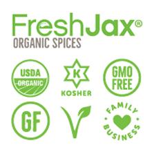 FreshJax Certified Organic, Certified Kosher, GMO Free, Gluten-Free, Vegan, Small Family Business