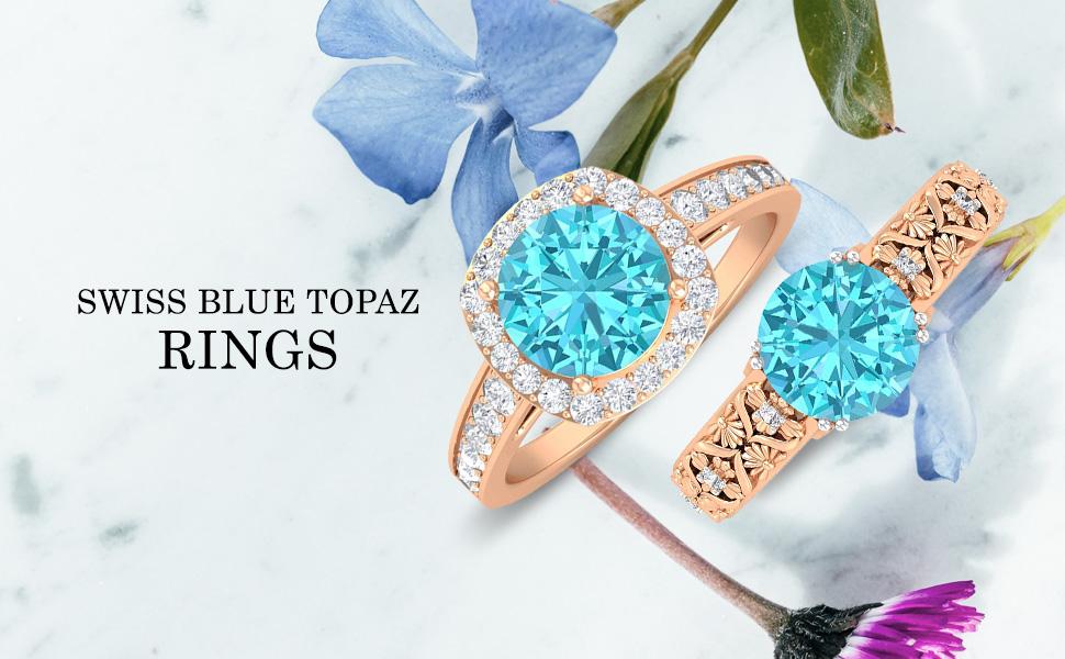 banner Swiss Blue Topaz Rings