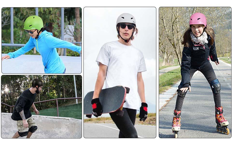 TurboSke skateboard helmet in real use